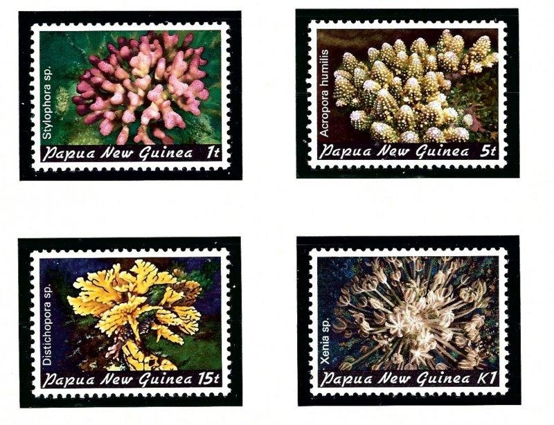 Papua New Guinea 566-69 MNH 1982 Corals