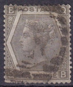 Great Britain #60 Plate 12 F-VF Used CV $250.00 (Z3422)
