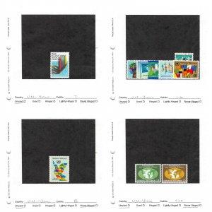 Lot of 52 U.N. United Nations Vienna MNH Stamps Scott # 1 - 51 #149731* X R