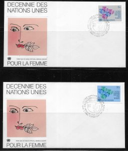 United Nations 318-19 Women's Decade Geneva Cachet FDC First Day Cover