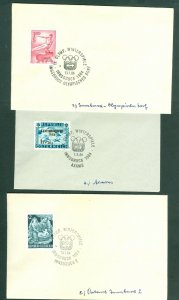Austria.  3 Covers 1964. Winter Olympic Games Innsbruck. Sc#B.287+648+648A.
