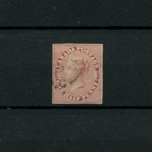 # 8 Queen Victoria One Half Penny 4 margin very fine $1000 Canada used