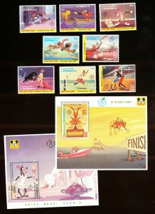 DOMINICA - Scott 1494-1503  VFMNH - DISNEY - GOOFY,  SPORTS - 1992