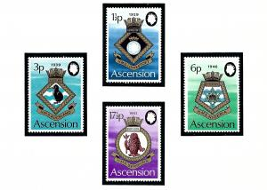 Ascension Is 156-59 MNH 1972 Royal Naval Crests