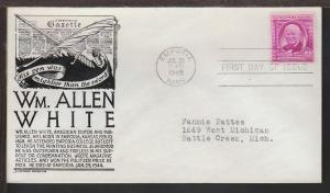 US 960 William White 1948 Anderson Typed FDC