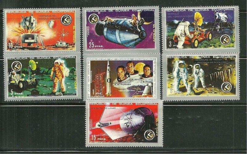 Equatorial Guinea MNH Set Apollo 15 Space