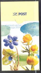 Estonia Sc484 2004 Spring flowers stamp booklet NH