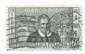 Italy #656  60c   Marco Polo  (U)  CV $5.25