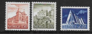 NORWAY 772-774 MNH SCENIC TYPE OF 1977