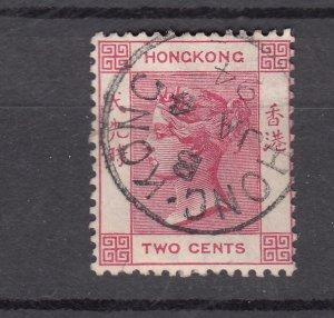 J28251 1882-1902 hong kong used #36b queen wmk 2