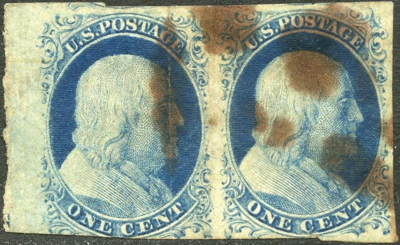 #9 USED PAIR POS41-42L1L MARGIN PAIR VF (APP.) CV $240.00 BN9201