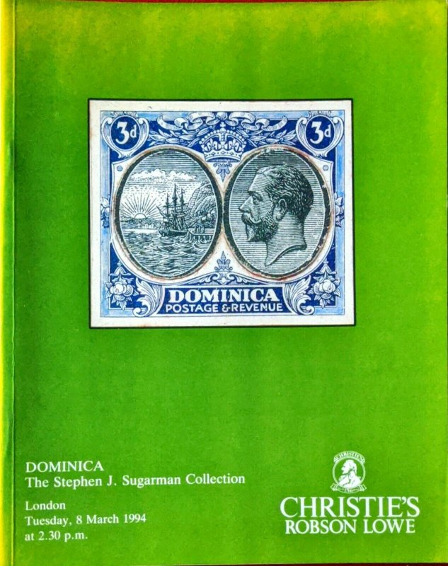 Auction Catalogue DOMINICA - The Stephen J Sugarman Collection