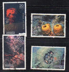 Jamaica Sc 495-8 1981 Undersea Life stamp set used
