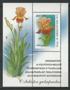 Uzbekistan 2002 Flowers MNH Block