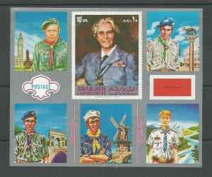 1972 Sharjah Trucial State Boy Scouts World Jamboree SS Lady BP