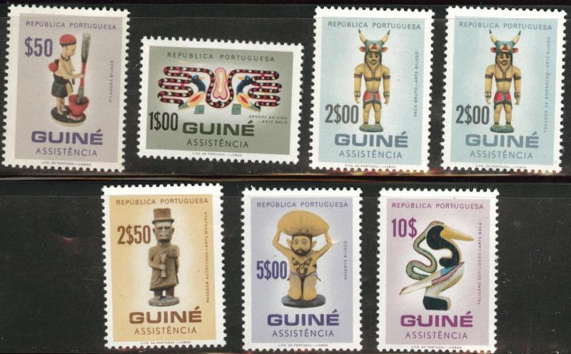 Portuguese Guinea  Scott RA17-23 MNH** postal tax stamp set