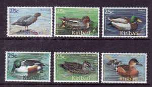 Kiribati-Sc#772-7-Unused NH set-Birds-Ducks-2001--please note there is a spot of