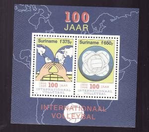 D1-Surinam-Sc#995a-unused NH sheet-Sports-Maps-Int'l Volleyb