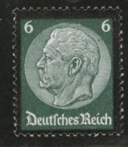 Germany Scott 438 MH* 1934 stamp few perf tips thinned