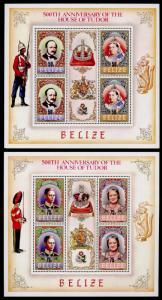Belize 733a,5a7a MNH House of Tudor, Prince Charles, Princess Diana