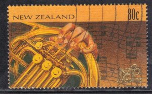 NEW ZEALAND SC# 1373  USED* 80c   1996   MUSIC   SEE SCAN
