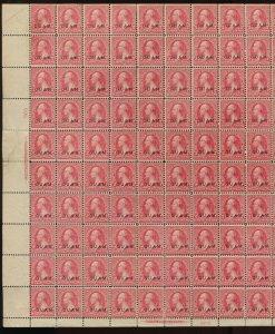 Guam Scott 2 Overprint Complete Unused Sheet of 100 Stamps (Stock Guam 2-sht 1)