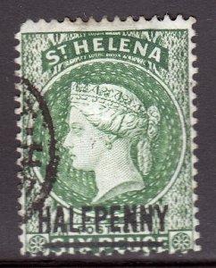 St. Helena - Scott #34 - Used - Rounded corner UL - SCV $3.50