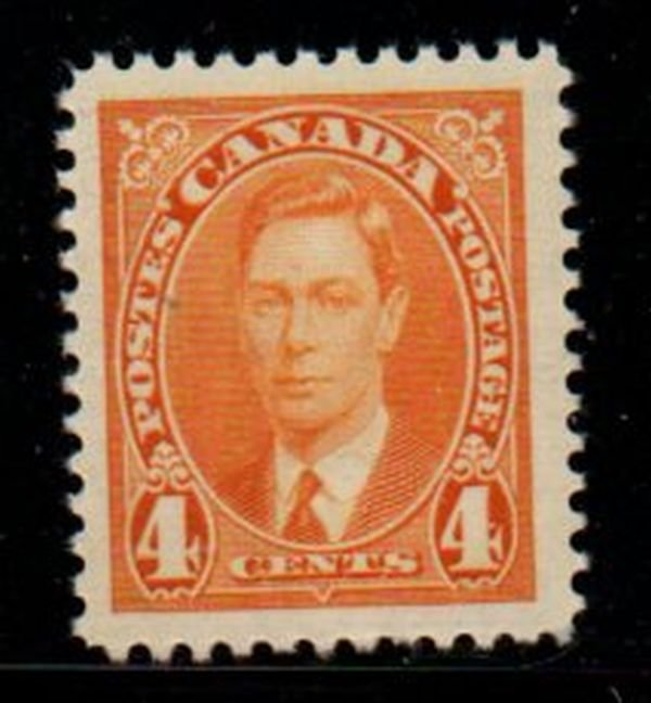 Canada Sc 234 1937 4 c George VI stamp mint NH