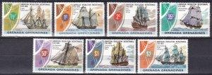 Grenada Grenadines #174-80  MNH CV $5.00 (Z7866)