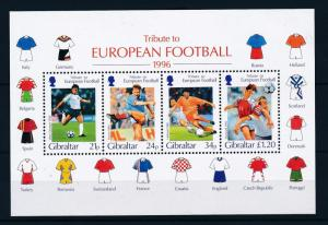 [43090] Gibraltar 1996 Sports European Cup Soccer Football England MNH Sheet