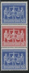 Germany AM-Post Scott # 585 (2), 584, mint nh, se-tenant, Mi# SZd4