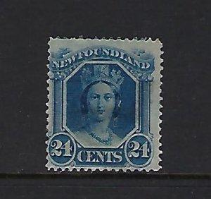 NEWFOUNDLAND SCOTT #31 1865-94 VICTORIA 24 CENTS MINT NO GUM