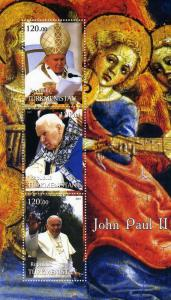 Turkmenistan 2001 Pope John Paul II Sheet Perforated mnh.vf