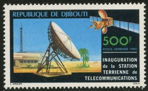 DJIBOUTI Sc#C137 1980 Satellite Earth Station Complete Set Mint OG NH