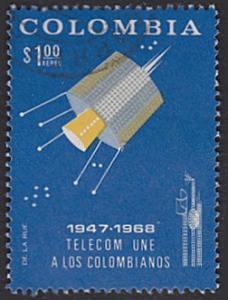 Colombia # C499 used ~ 1p Satellite
