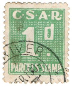 (I.B) Transvaal Railways : CSAR Parcel Stamp 1d