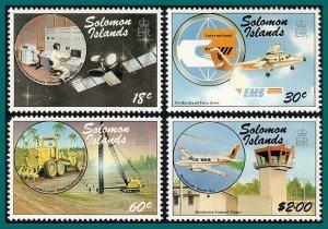 Solomon Islands 1987 Transport Communication, MNH (60c flt) #602-605,SG606-SG609