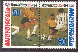 MICRONESIA 197A MNH WORLD CUP SOCCER CHAMPIONSHIPS, PAIR