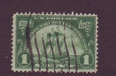 United States Sc614 1924 1 c New Netherlands stamp used