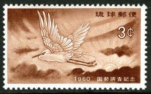 Ryukyu 74, MLH. National census. Little Egret, Rising Sun, 1960