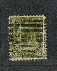 Canada Sc#84 Used/F-VF+, Key Value, Cv. $110