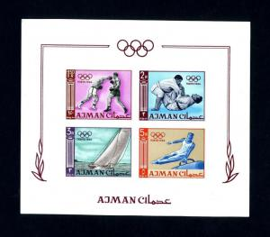 Ajman # 36b 1964 Olympics Imperforated NH Souvenir Sheet - Lot # 2