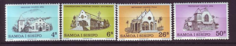 J19658 Jlstamps 1979 samoa set mnh #517-20 churches
