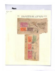 AQ169 c1959 NEPAL Covers with Official stamps