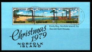 NORFOLK ISLAND SGMS233 1979 CHRISTMAS FINE USED