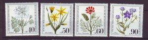 J24376 JLstamps 1980 germany berlin set mnh #9nb171-4 flowers