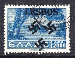 GREECE 448 LESBOS OVERPRINT CDS VF SOUND