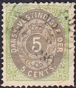 Danish West Indies #8    Used