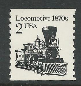 USA # 2226 Locomotive  2c Coil Re-Issue  (1) Mint NH