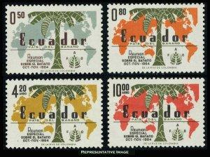 Ecuador Scott 720-721, C427-C428 Mint never hinged.